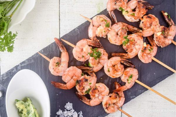 Bariatric Recipes - Garlic Lemon Shrimp Kabobs