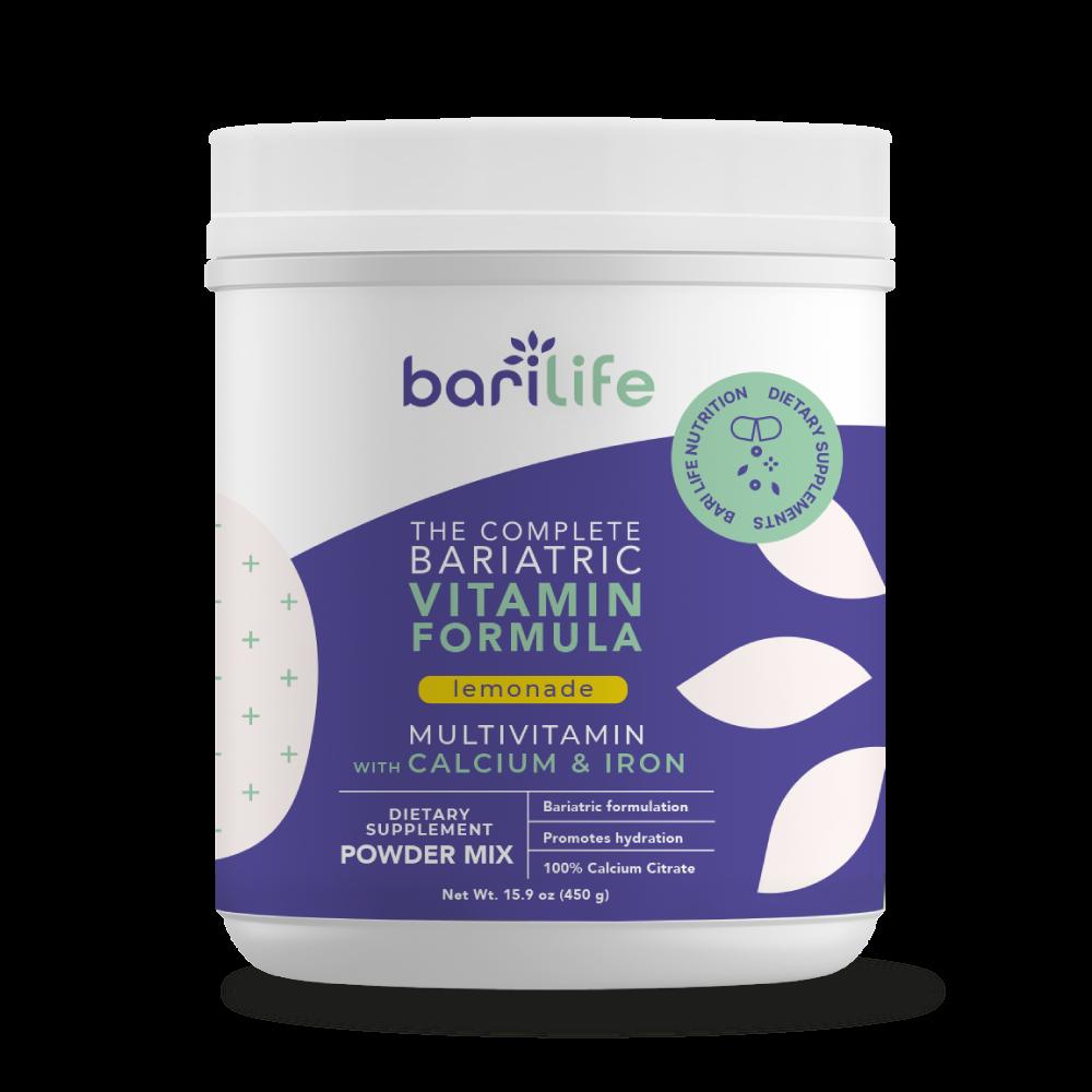 Lemonade bariatric vitamin powder front mockup