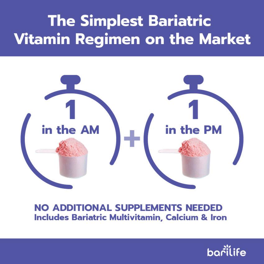 watermelon bariatric powder vitamin daily schedule