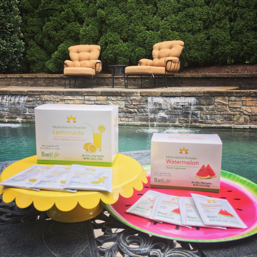 Lemonade and Watermelon Multivitamin Powder Packets Poolside