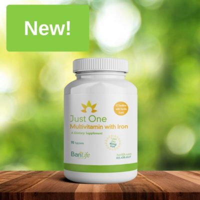 New Just One Bariatric Multivitamin with Iron 90 ct