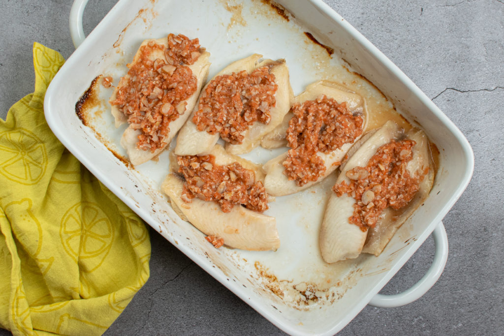 Baked Fish with Almond Chutney 4
