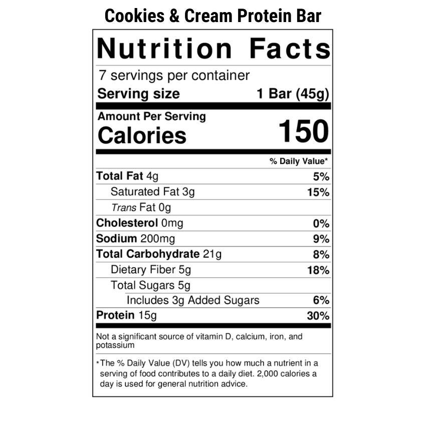 Cookies & Cream Protein Bar