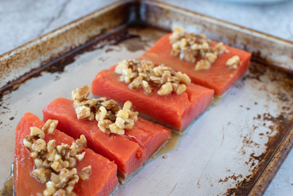 Honey walnut salmon 4