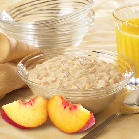 Peaches & Cream Protein Oatmeal