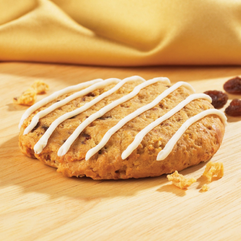 Oatmeal Raisin Protein Cookies with Icing